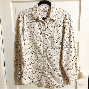 Riders by Lee Button-Up Floral Cotton Shirt - Sz L